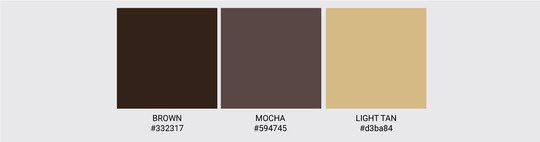 Color Palette We Love Colors Brown Mocha Light Tan 2