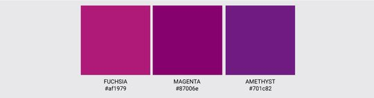 Color Palette We Love Colors Magenta Fuchsia Amethyst 2