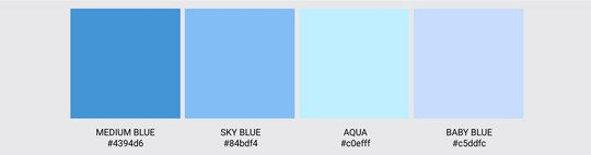Color Palette We Love Colors Medium Sky Baby Blue Aqua 2