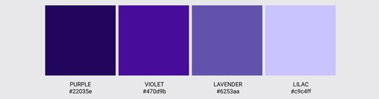Color Palette We Love Colors Purple Violet Lavender Lilac 2