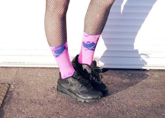 Fishnets Socks Streetstyle Tie Dye