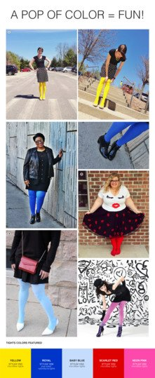 How To Style Colored Tights 2018 7