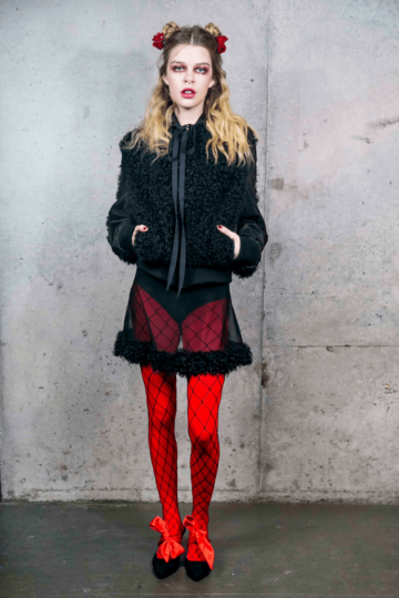 Katie Gallagher Nyfw Style 1053 Scarlet Red Fall 2018 1