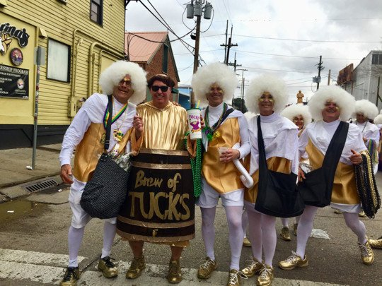 Krewe Of Tucks White Tights Mardi Gras