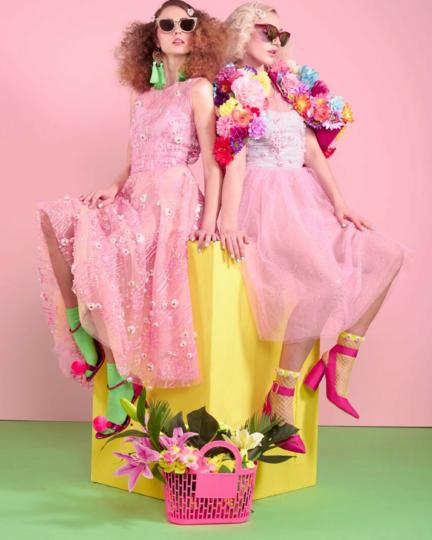 Lom Festivalwear Neon Pink Green