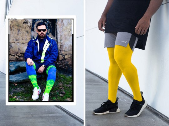 Men Colored Comfortable Tights Tie Dye Welovecolors