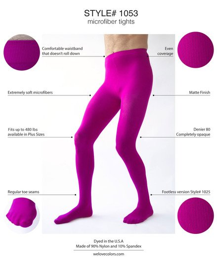 Men Colored Microfiber Tights Dancer Welovecolors