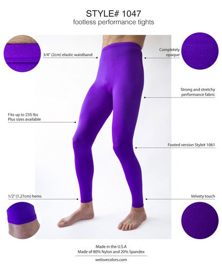 Men Colored Performance Tights Violet Welovecolors