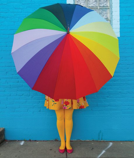 Opaque Soft Colorful Plus Size Tights Rainbow