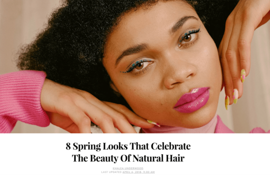Refinery 29 Natural Hair Cover