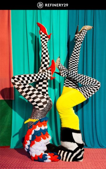 Refinery 29 We Love Colors Patterned Tights 1