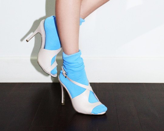 Socks Heels Welovecolors Sky Blue