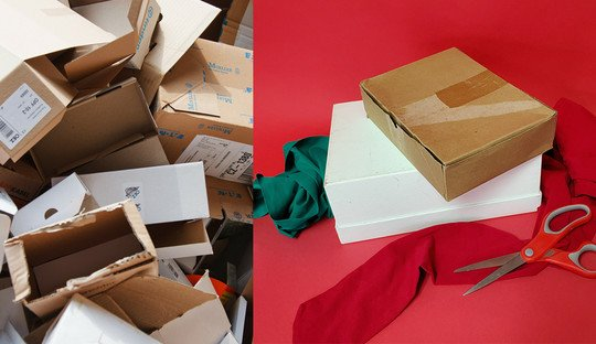 Sustainable Wrapping Presents Ideas Recycle Boxes
