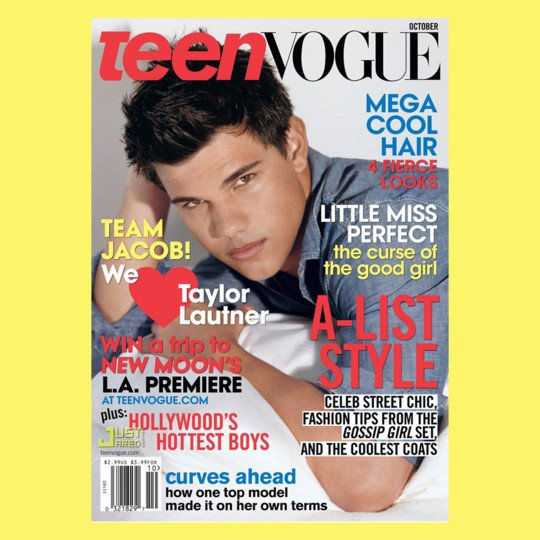Teen Vogue, cover Taylor Lautner, september 2003