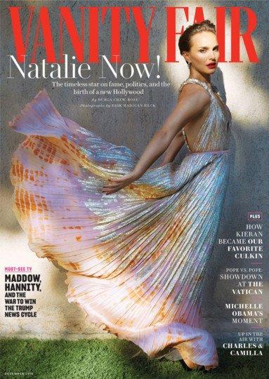 Vanity Fair December 2018 Natalie Portman Neon Pink Tights 1