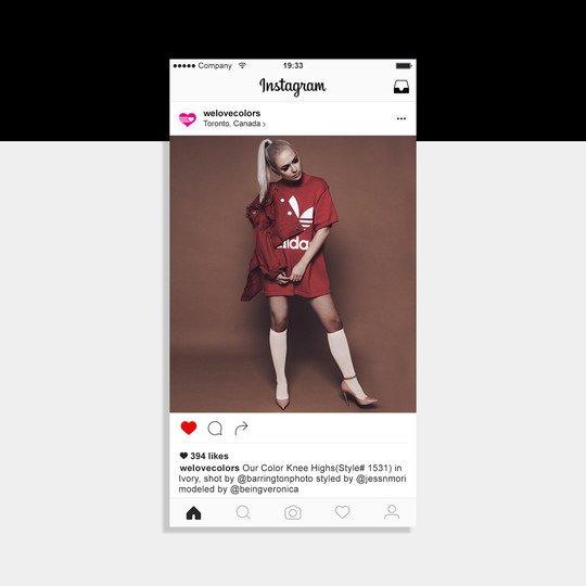 Veronica Canadian Singer Knee Highs Photoshoot
