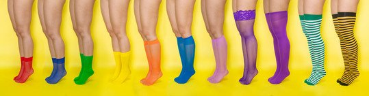 We Love Colors Socks Knee Highs Thigh Highs