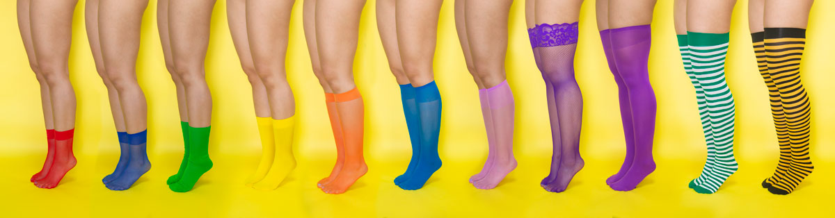 We Love Colors Socks Knee Highs Thigh Highs