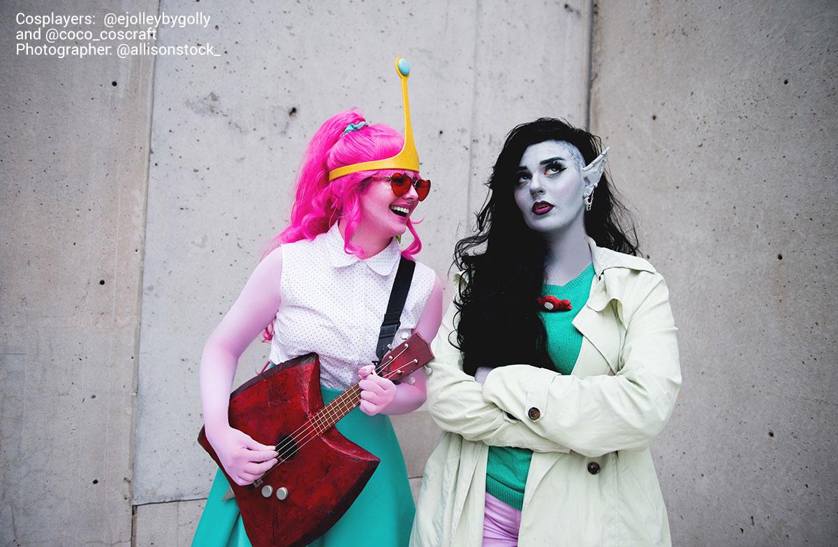 Welovecolors Mehron Bodypaint Marceline Princess Bubblegum Cosplay 1