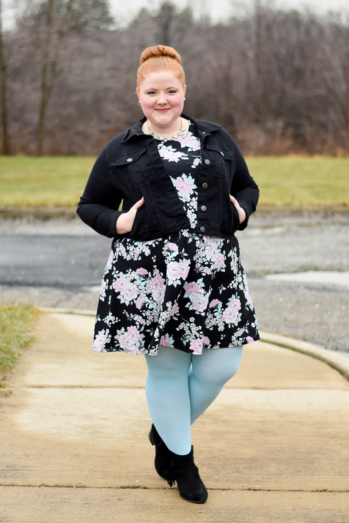 winterize outfit with tights