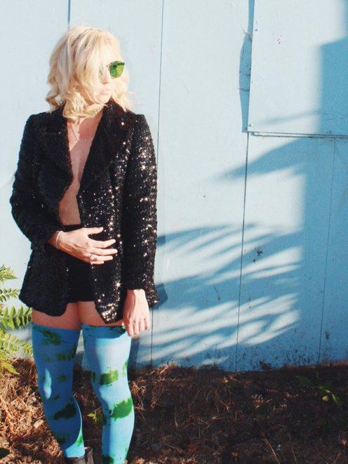city-splah-color-thigh-highs-blue-mellow-vintage