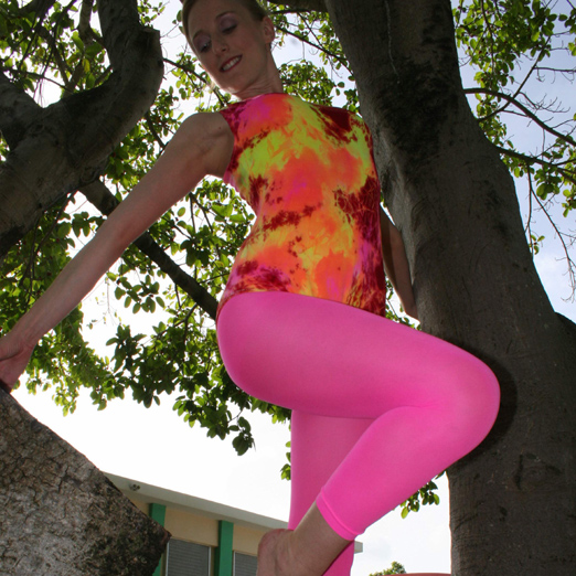 Neon leotards.