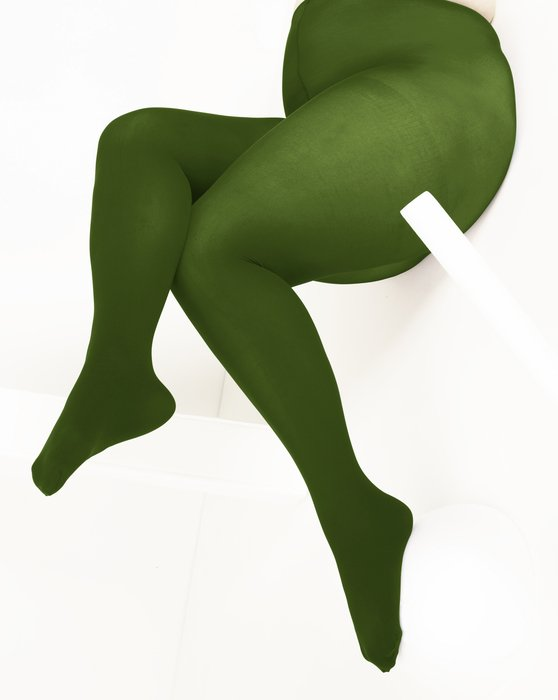 Olive Green Nylon Spandex Tights Style# 1023   We Love Colors