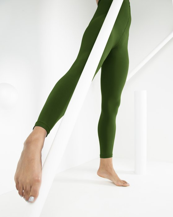 1025 W Olive Green Tights