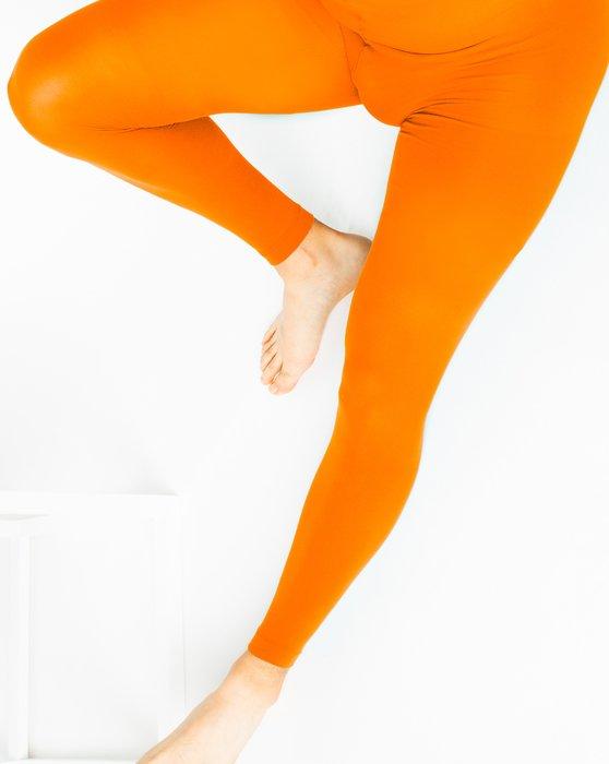 Neon Orange Plus Sized Nylon/Lycra Footless Tights Style# 1041   We Love Colors