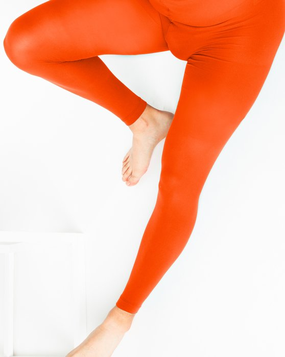 Orange Plus Sized Nylon/Lycra Footless Tights Style# 1041 | We Love Colors