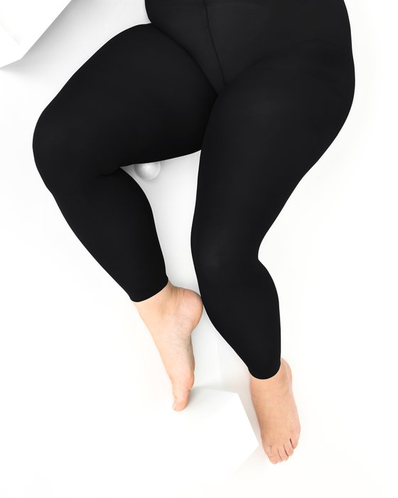 1041 W Black Plus Size Footless Tights