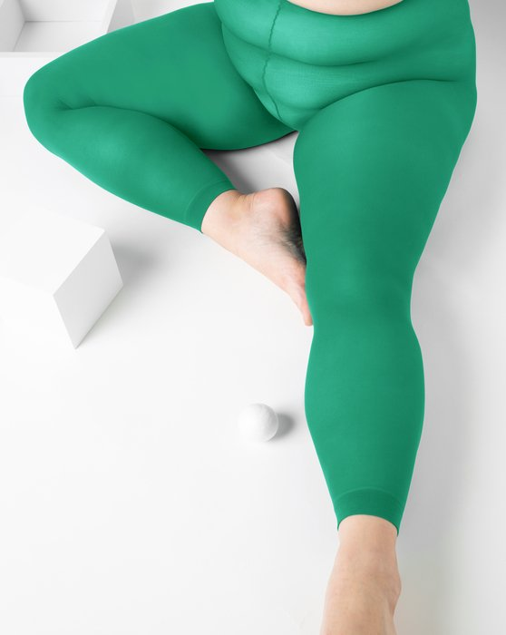 Emerald Plus Sized Nylon/Lycra Footless Tights