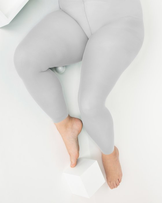 Light Grey Plus Sized Nylon/Lycra Footless Tights Style# 1041 | We Love Colors