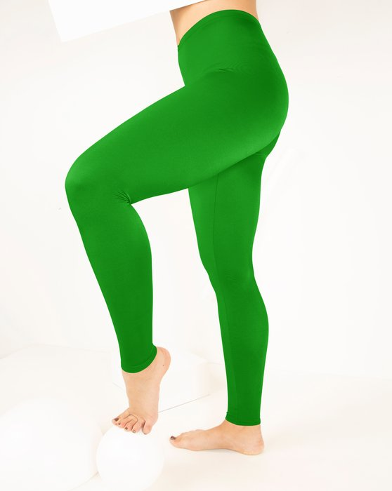 Kelly Green Footless Performance Tights Leggings Style# 1047 | We Love Colors