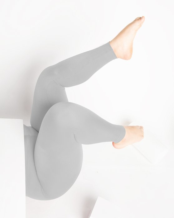 Light Grey Footless Performance Tights Leggings Style# 1047   We Love Colors