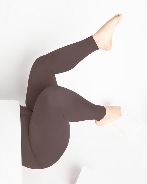 1047 W Mocha Footless Performance Tights