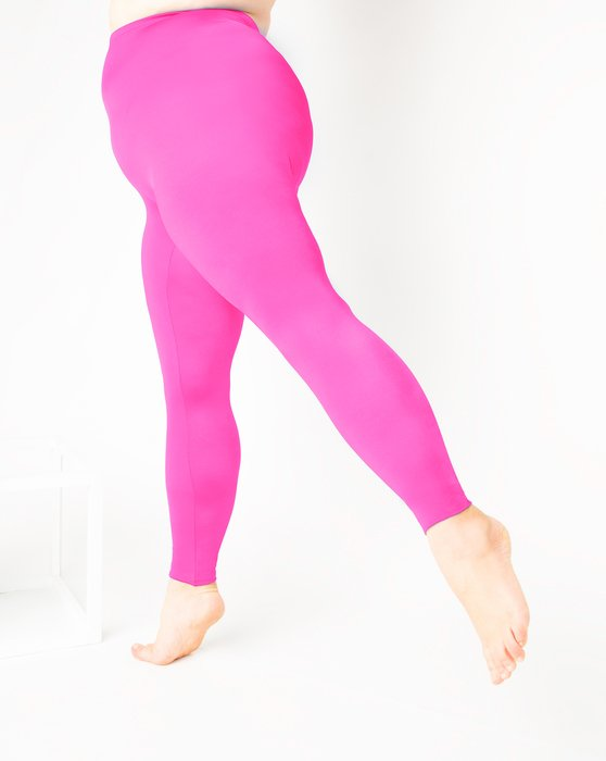 Neon Pink Footless Performance Tights Leggings Style# 1047 | We Love Colors