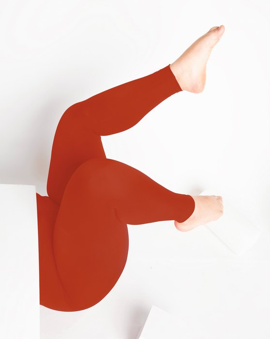 1047 W Rust Footless Performance Tights