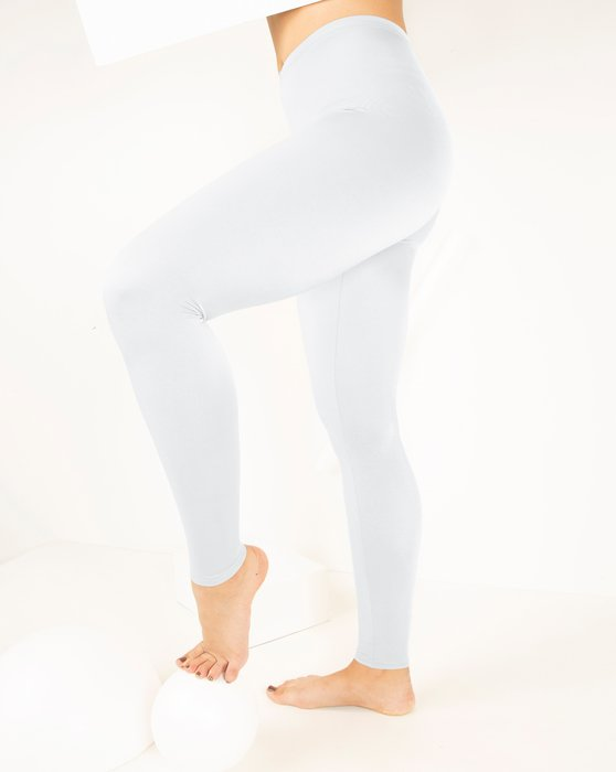 1047 W White Footless Performance Tights