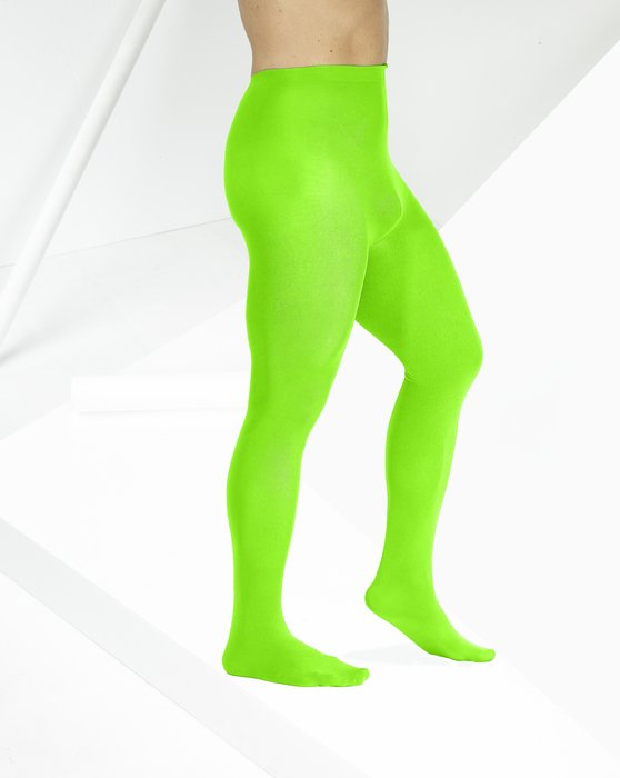 Neon Green Microfiber Nylon/Lycra Tights