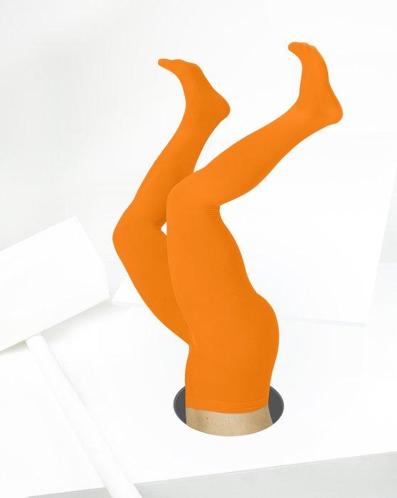 Neon Orange Microfiber Nylon/Lycra Tights Style# 1053 | We Love Colors
