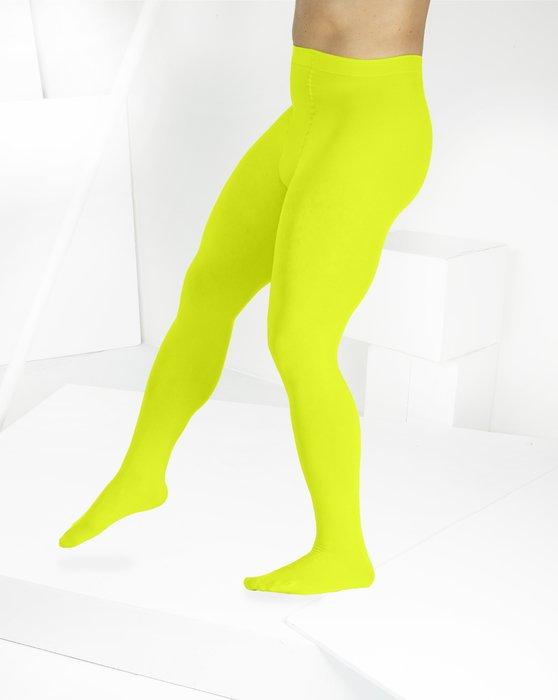 Neon Yellow Microfiber Nylon/Lycra Tights Style# 1053   We Love Colors