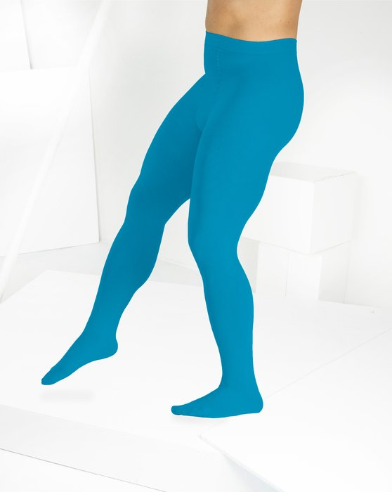 Turquoise Microfiber Nylon/Lycra Tights Style# 1053 | We Love Colors