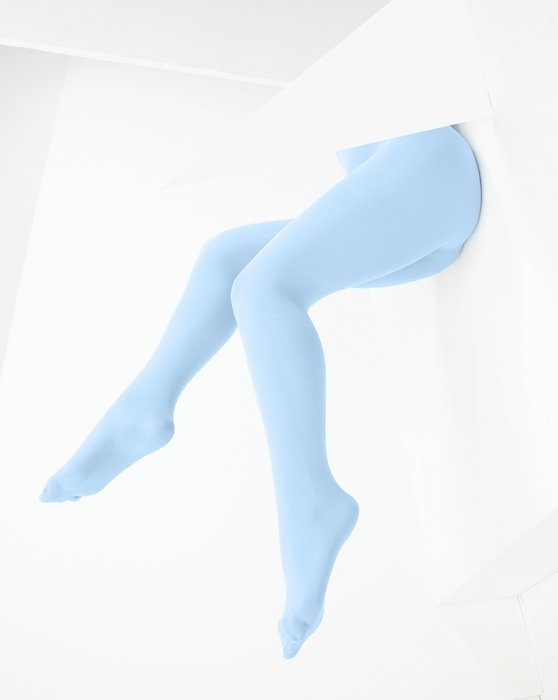 Baby Blue Microfiber Nylon/Lycra Tights Style# 1053 | We Love Colors