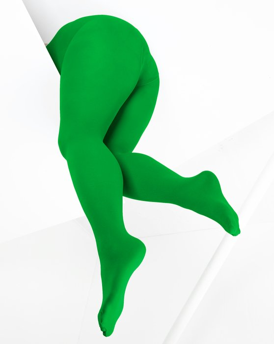 1053 W Kelly Green Microfiber Tights