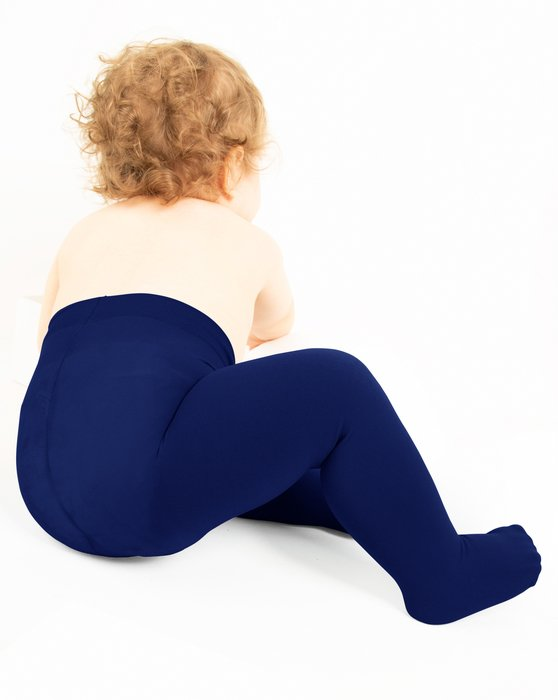 Navy Kids Microfiber Tights Style# 1075 | We Love Colors