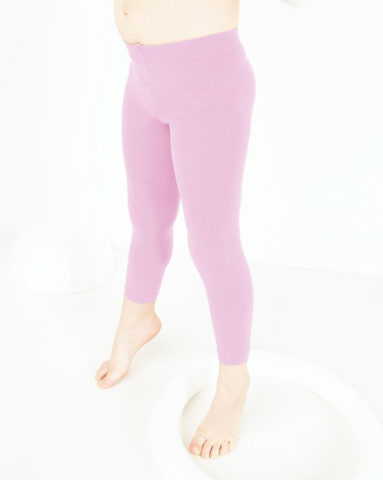 Light Pink Kids Microfiber Footless Tights Style# 1077   We Love Colors