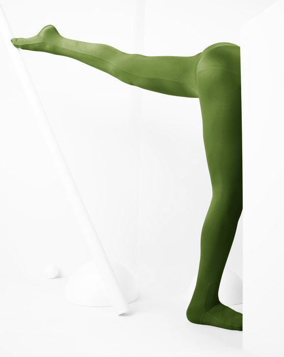 Olive Green Kids Performance Tights