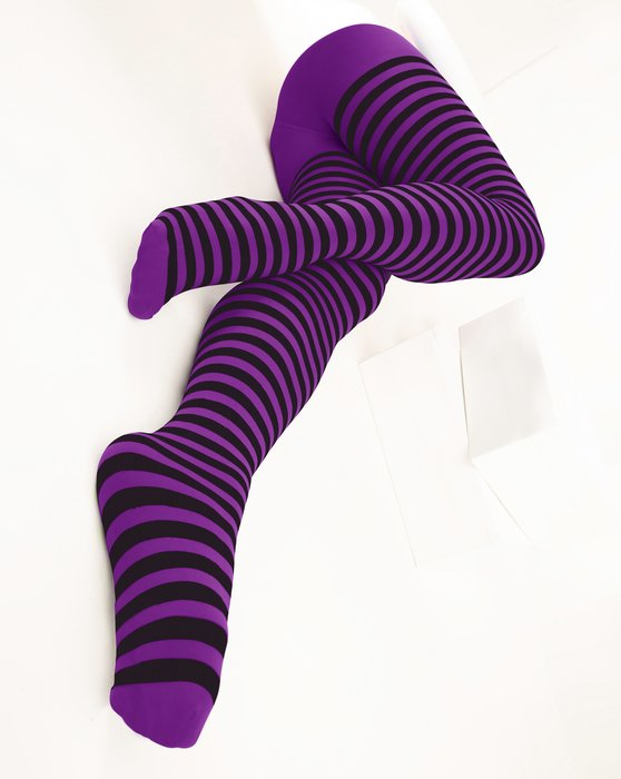 Amethyst Black Striped Tights Style# 1202 | We Love Colors