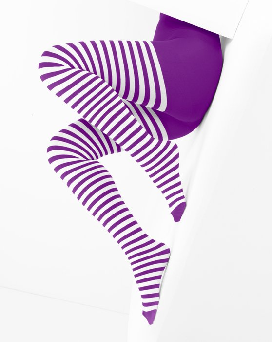Amethyst White Striped Tights Style# 1203 | We Love Colors